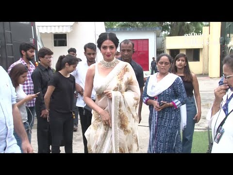 Thumbnail: Sridevi INSIDE Filmcity Studio For Mom Movie Promotions