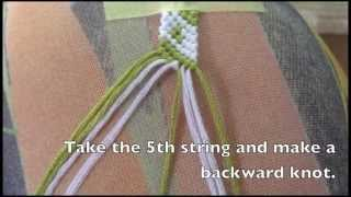 how to make the diagonal hearts bracelet pattern 7911