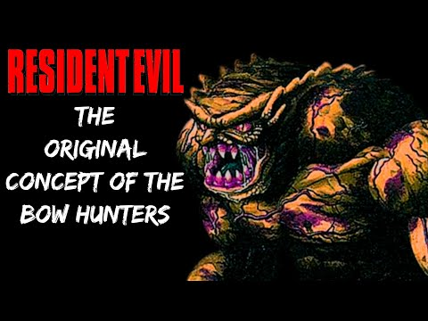 The Original Concept & Appearance Of BOW Hunters - Resident Evil History