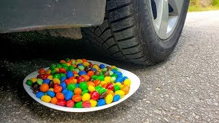 Crushing Crunchy & Soft Things by Car! EXPERIMENT CAR vs M&M