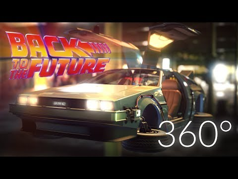 Back to the Future - DeLorean, VR experience [ 360 video ] CGI