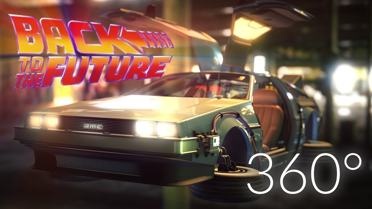 Back To The Future Delorean Vr Experience 360 Video