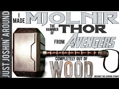 DIY Mjolnir - Avengers Endgame and all the Thor Movies // Custom Prop Replica // Just Joshin' Around