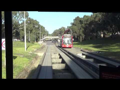 Express Service!!Adelaide O-Bahn Route No.544X  Driving View TTP Interchange To City-Grenfell St