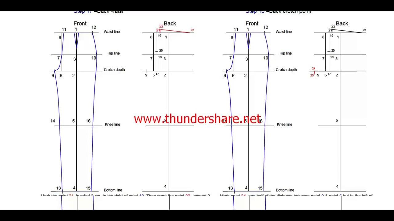 How To Make Basic Trouser Block\
