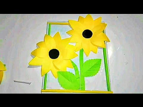 Paper wallmate/ Diy paper flower wall hanging /Simple and beautiful wall hanging/ new design flowers