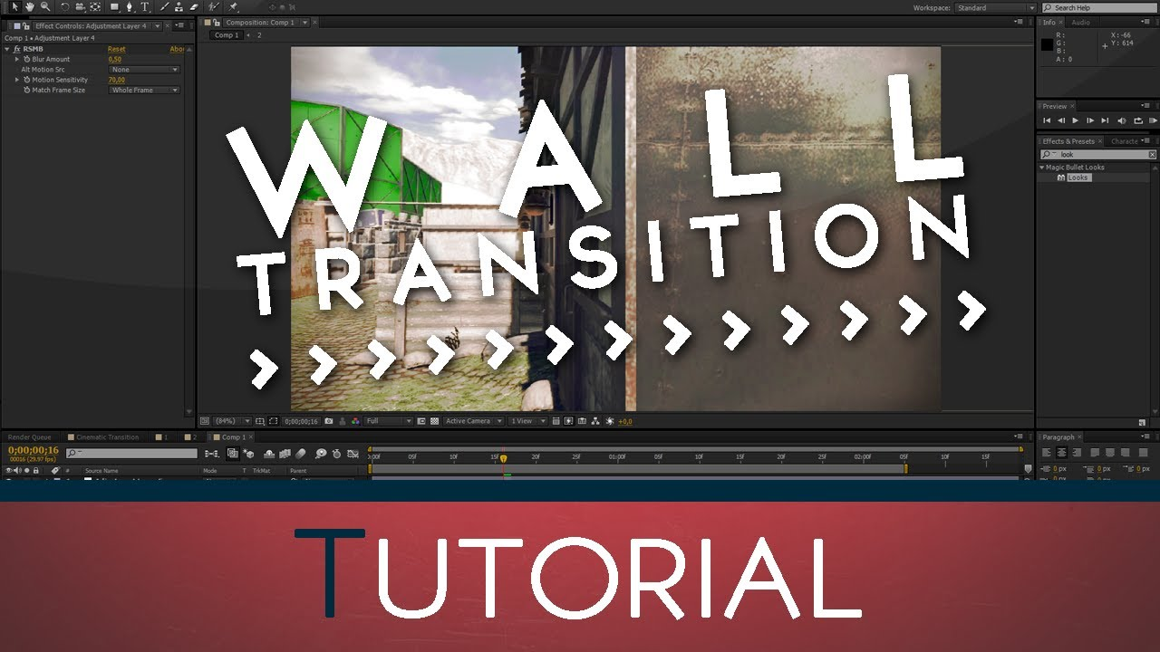 Wall Transition | After Effects Tutorial