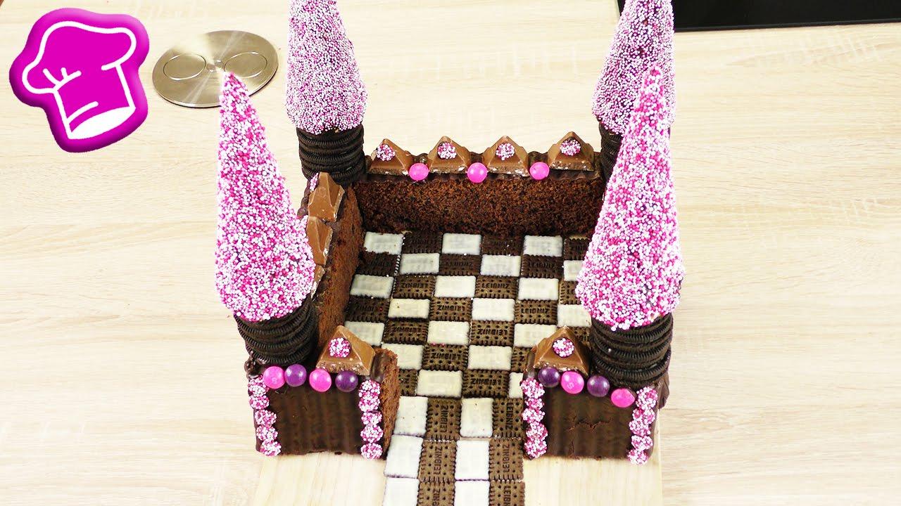 Wunderschoner Burg Kuchen Einfache Geburtstagskuchen Idee
