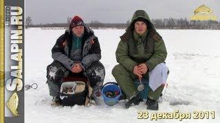 Скоростная ловля мелкого окуня со льда [salapinru]