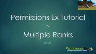 Permissions EX Multiple Ranks (*sound enhanced!*)