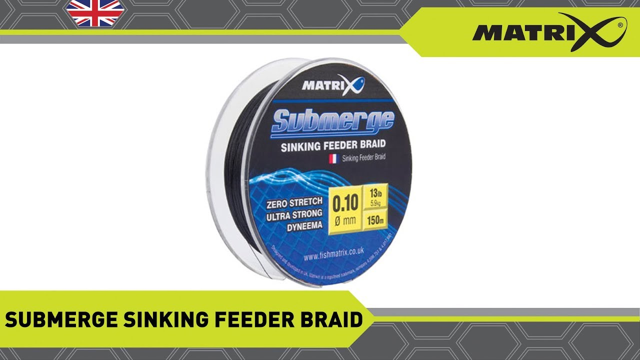 Fox Matrix Submerge Sinking  Feeder Braid NEW Coarse Fishing  *All Diameters*