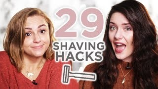 29 HACKS + TIPS: Shaving made FASTER, CHEAPER & EASIER | Melanie Murphy + Hannah Witton