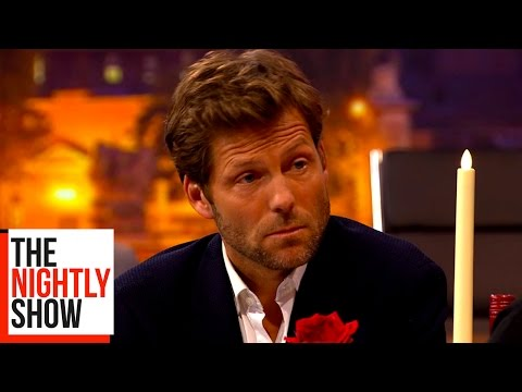 Jamie Bamber Chats Up a Bamber Babe Over Dinner