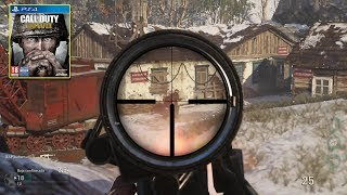 Call of Duty WW2 gameplay español multijugador PS4 |#1 Baja confirmada