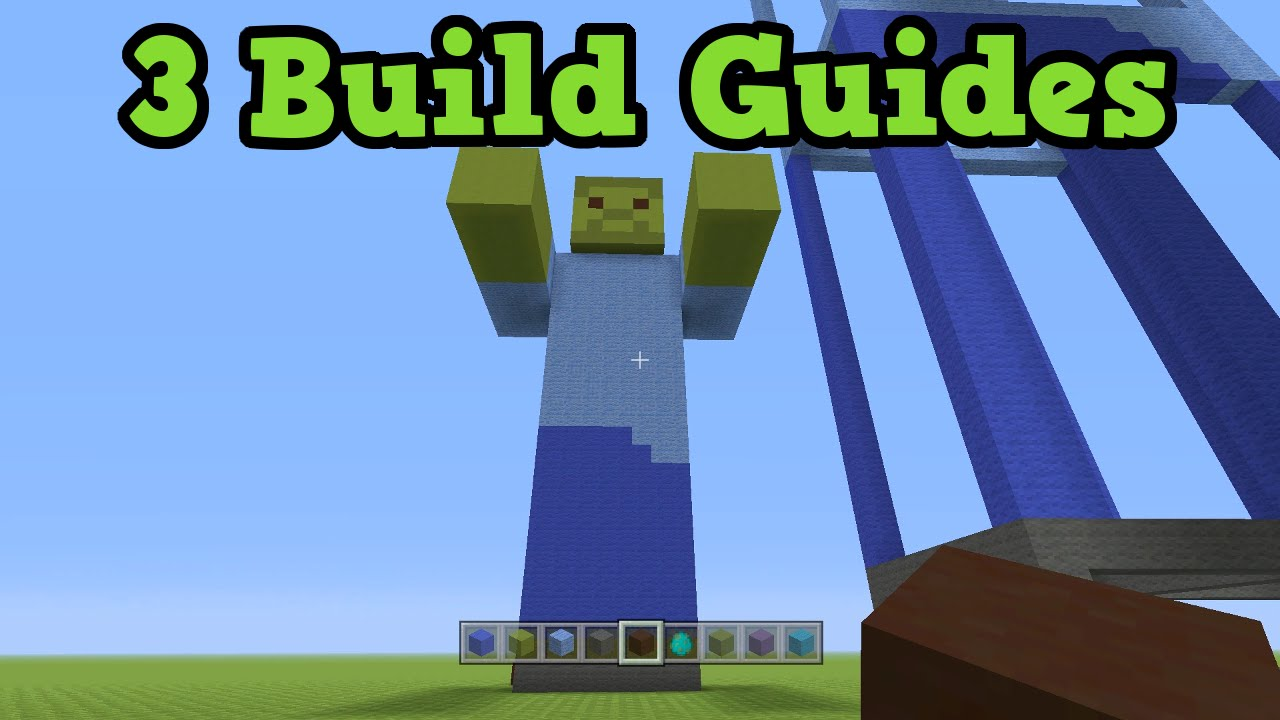 Minecraft Xbox 360 / PS3 Build Guide - Zombie Statue & How To Make on
