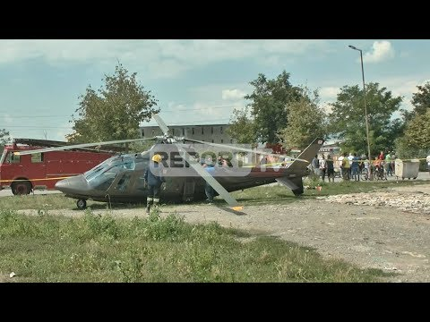 Do merrte nusen, helikopteri me dhëndrin bën ulje emergjente në Korçë, i thyen rrotat