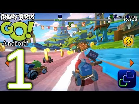 Angry Birds GO Android Walkthrough - Gameplay Part 1 - Seedway: Track 1 - RED
