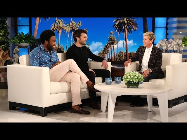Donald Glover & Alden Ehrenreich Talk About Partying with Woody Harrelson & Jennifer Lawrence