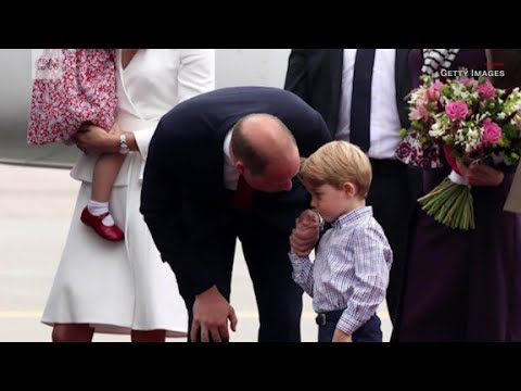 Prince George hesitant to deplane in Poland