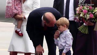Prince George hesitant to deplane in Poland