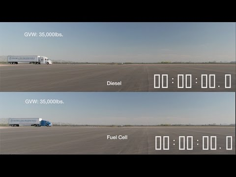 Diesel Truck vs Fuel Cell Truck