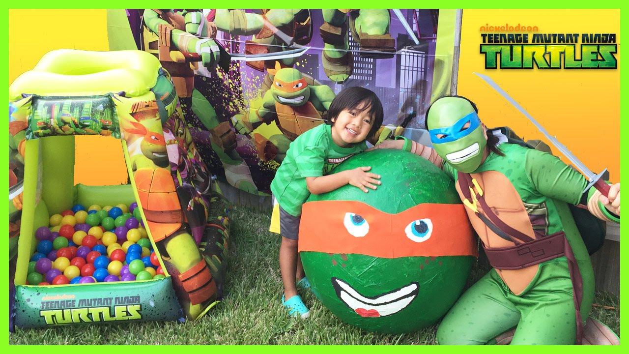 Tmnj Super Giant Egg Surprise Opening Toys Ninja Turtle