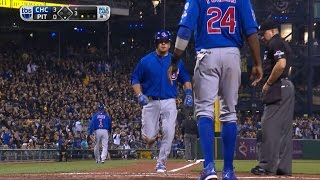 CHC@PIT: Schwarber pads lead with mammoth two-run homer