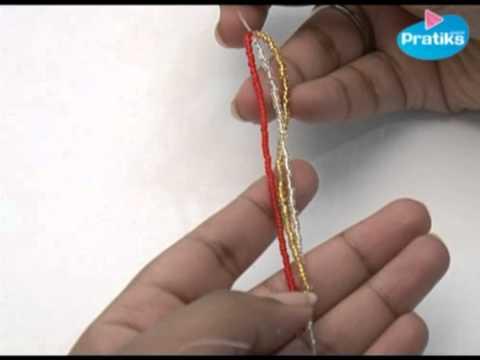 comment faire un bracelet en perles - le tressé - youtube