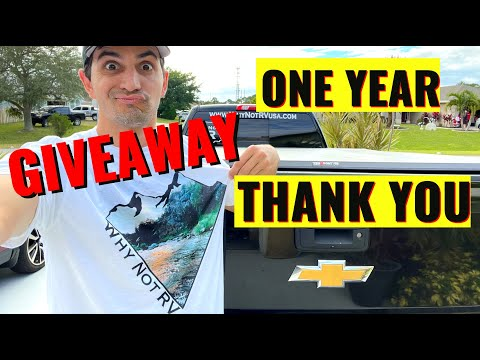 Why Not RV: One Year Thank you - GIVEAWAY!!!