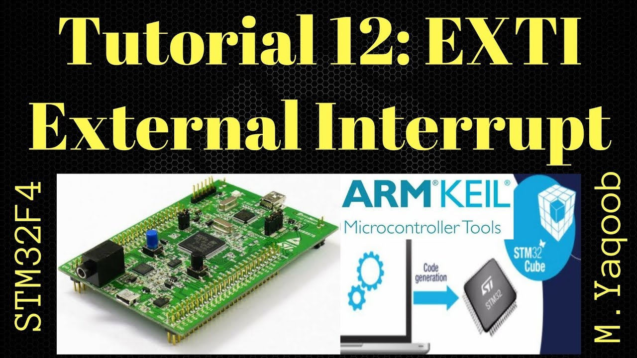 STM32F4 Discovery board - Keil 5 IDE with CubeMX: Tutorial 12 External  Interrupt - Updated Nov 2017