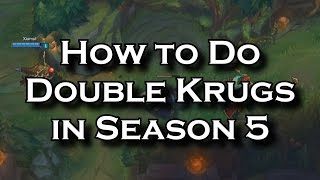 How to Do Double Krugs (Double Golems) in Season 5 as an AD and a Support | League of Legends LoL