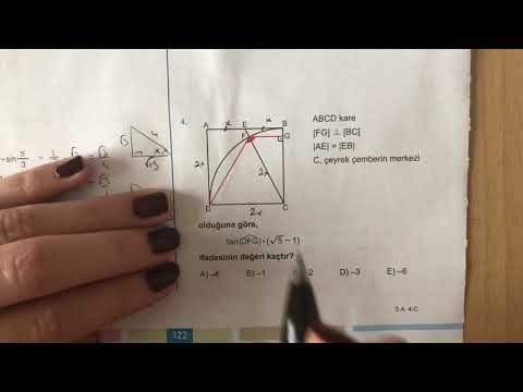 345 AYT Matematik Trigonometri-II Test-8 Anlatımlı Çözümleri (2018-2019 basım)