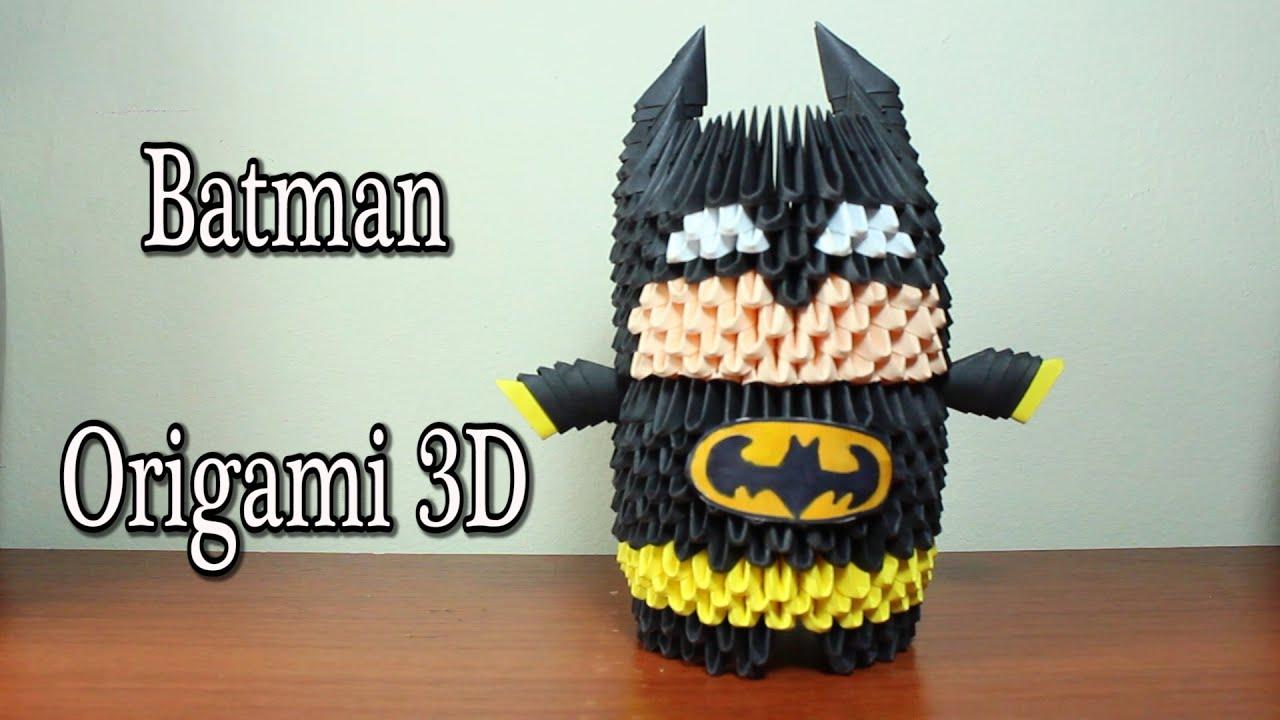 Batman En Origami 3D TUTORIAL! - YouTube - photo#21
