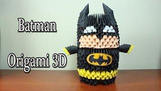 Batman En Origami 3D TUTORIAL!
