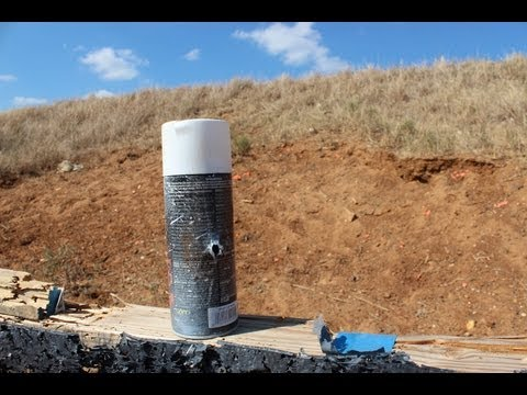 1000 yard shot at a spray paint can w/ a Remington 700  308 - YouTube