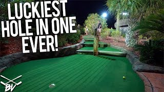 I HAVE NEVER SEEN A MINI GOLF HOLE IN ONE LIKE THIS!
