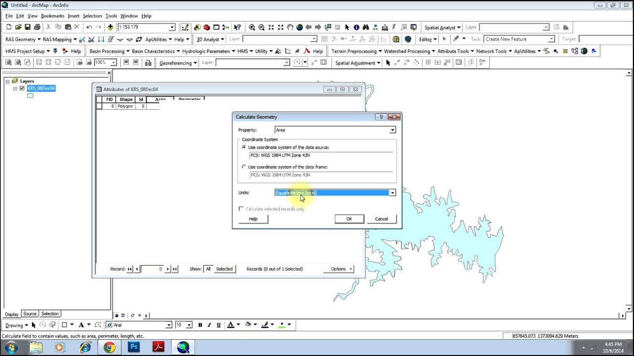 Calculating Area of Polygons using ArcGIS