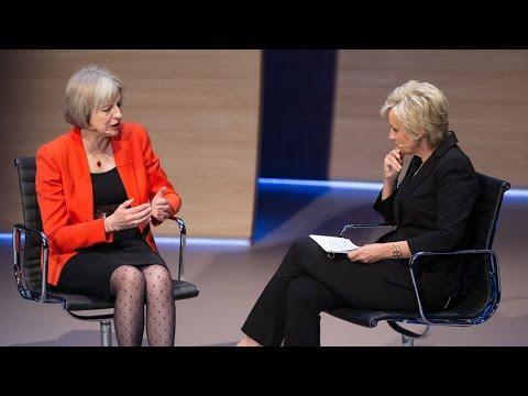 Theresa May chats