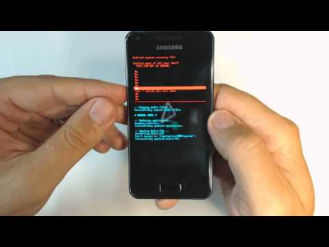 Samsung Galaxy S Advance I9070P - How to reset - Como restablecer datos de fabrica