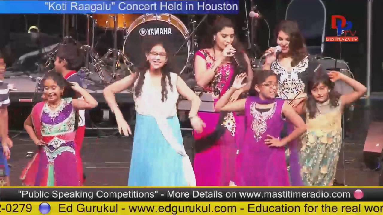 Sai Shilpa and Shruti singing  at Telugu Bhavan fund Raising - Houston
