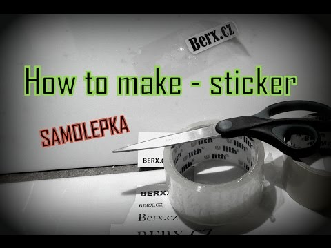 How to make - stiker