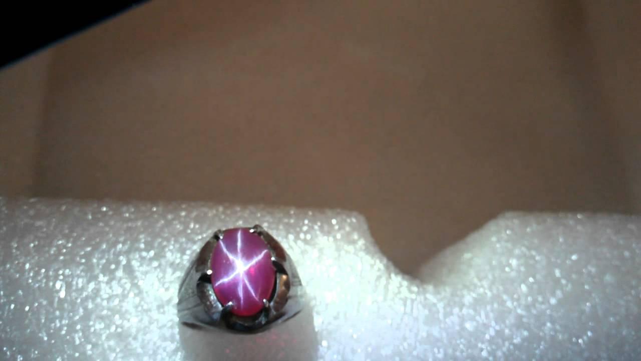 Batu Akik Ruby Star Merah Delima Asli 100%