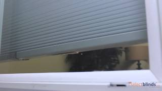 """1/2"""" Single Cell Designer Cordless Top Down Bottom Up Blackout Honeycomb Shades from Selectblinds.ca"""