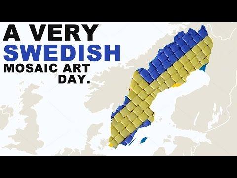 Mosaic art tutorial ( Swedish day )