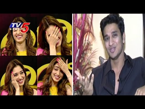 Tamannaah Reaction When Hero Nikhil Reveals Her Secrets w/Subtitles | Tamannaah Interview | TV5 News