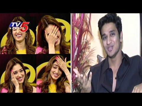 Tamannaah Reaction When Hero Nikhil Reveals Her Secrets w/Subtitles | Tamannaah Interview | TV5 News