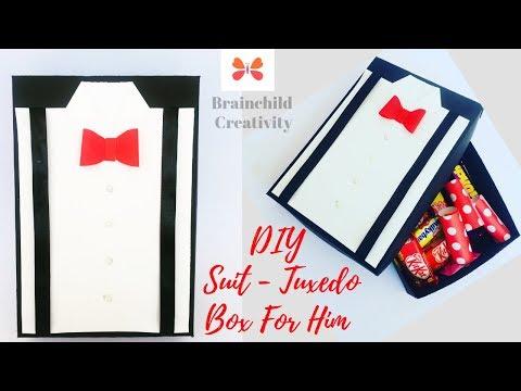 DIY Suit-Tuxedo Greeting Card Tutorial | DIY Gift Box | Ep 285