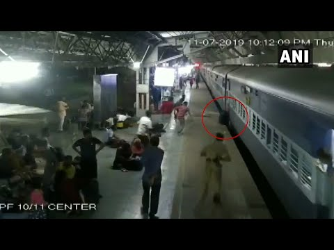 Watch: Woman falls off moving train, saved by alert bystanders in Ahmedabad