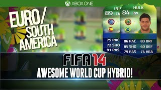AWESOME WORLD CUP SQUAD! | EURO/SA | FIFA 14 WC Squad Builder #1