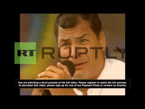 The Latest: Ex-Ecuadorian president blasts 'double standard'